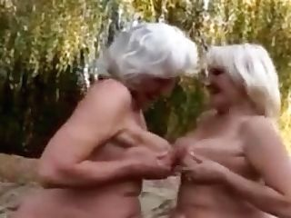 Lesbo Grannies Outdoors