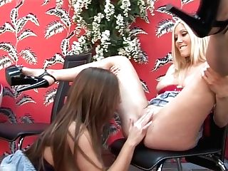 Blonde And Brown-haired Luvs Eating Each Others Delicious And Humid...